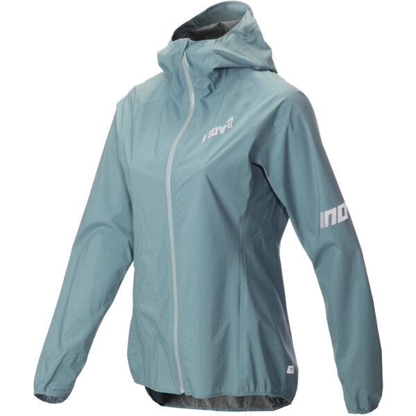 Куртка мембранная для бега INOV-8 AT/C Stormshell FZ W BLUE GREY женская