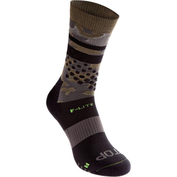 Носки для бега, фитнесса и кроссфита INOV-8 F-Lite Crew Sock Black/Camo высокие