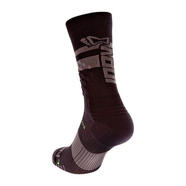 Носки для бега, фитнесса и кроссфита INOV-8 F-Lite Crew Sock Black/Grey высокие
