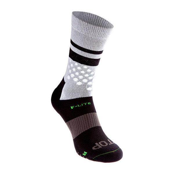 Носки для бега, фитнесса и кроссфита INOV-8 F-Lite Crew Sock White/Black высокие