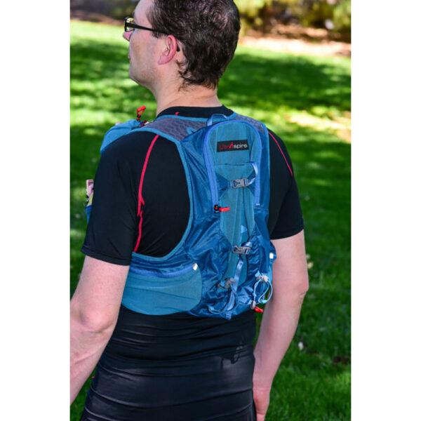 Рюкзак для бега и велоспорта Ultraspire Zygos 4.0 Emerald Blue с гидросистемой
