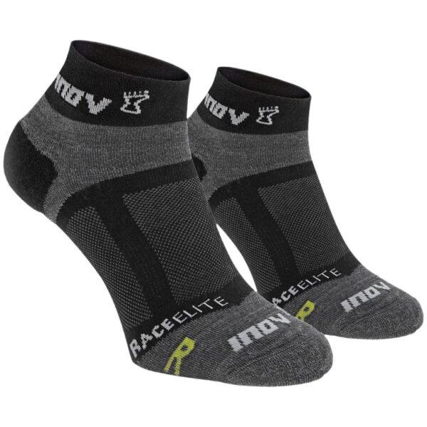 Носки для бега INOV-8 Race Elite Low Black/Grey 2 пары низкие