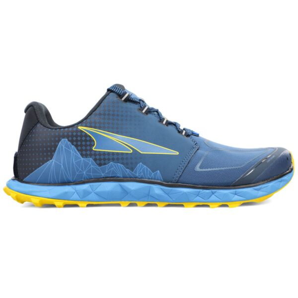 Кроссовки для бега Altra Superior 4.5 Blue/Lime трейловые мужские