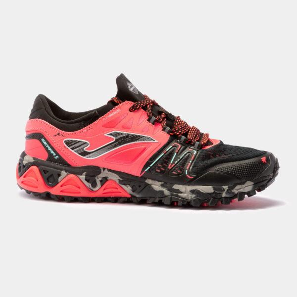 Кроссовки для бега Joma Sierra 5 Lady Coral Black трейловые женские