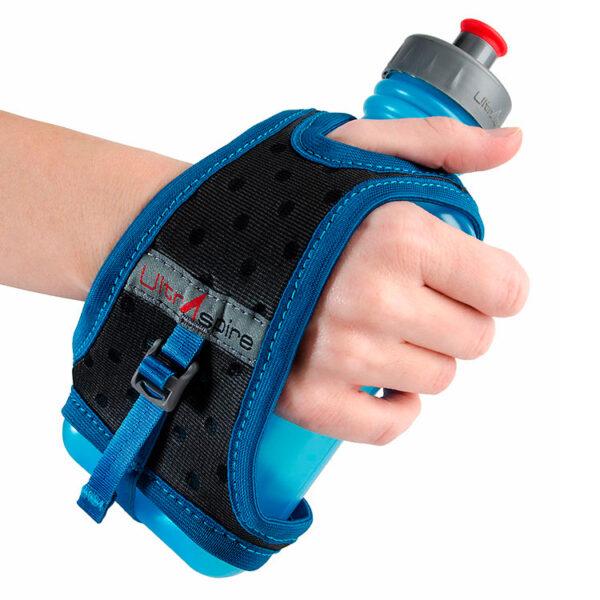 Беговой держатель на руку с флягой UltrAspire Race Handheld 550 мл Blue/Grey